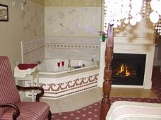 In-room Whirlpool Tub and fireplace - Wedgwood Inn Accommodations