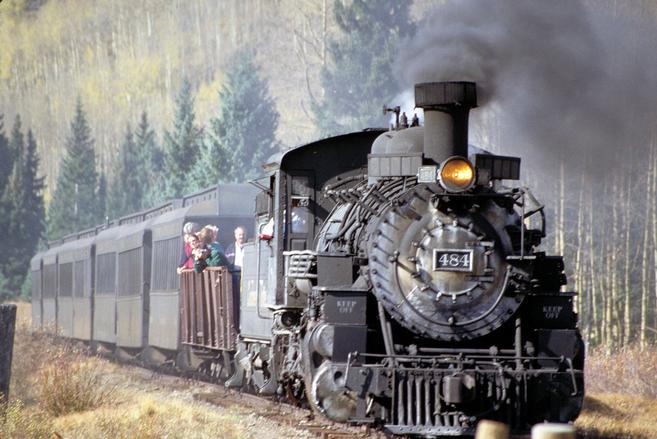 A steam locomotive of the C&TS RR.