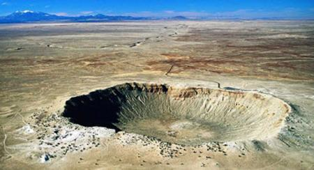 Take a beautiful motorcycle ride to Meteor Crater