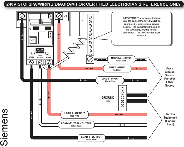 Spa Gfci Wiring Diagram Auto Electrical Wiring Diagram