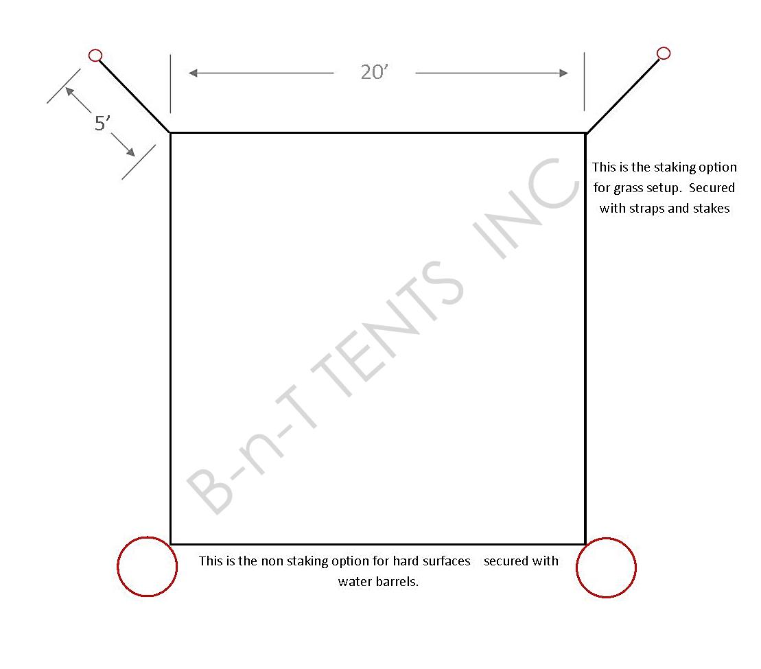 20x20 Century Frame Tent B-n-T Tents Inc