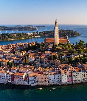 Luxury Crewed Charter Yachts Stunning Croatian Historic Round Coastal Town Big Blue Yacht Charters