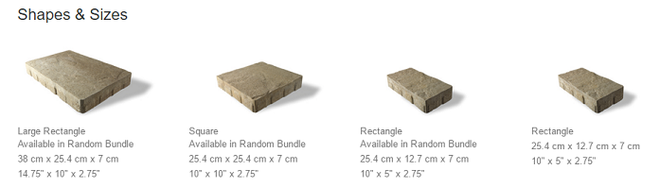 Westport Unilock Paver Sizes