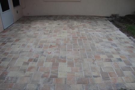Brick Paver Patio Install