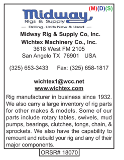 Drilling Equipment, Midway Rig, Wichtex