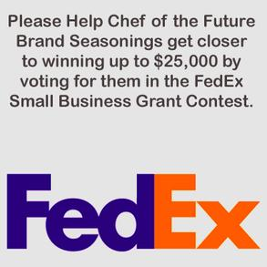 FedEx Small Business Grant Contest-Chef of the Future Brand Seasonings