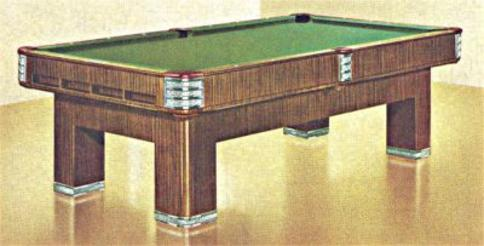 Antique Pool Tables - Brunswick century pool table