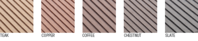 ZomeTek Decking Color Options