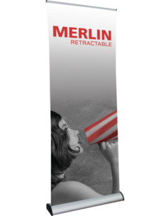 Merlin retractable banner stand.