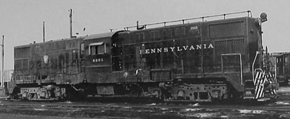 A Pennsylvania Railroad Baldwin RT-624 diesel-electric transfer locomotive.