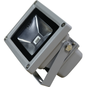 LED mini flood light rgb in off position.