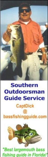 Southern Outdoorsman Guide Service for largemouth bass fishing in Florida