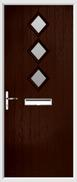 3 Diamond Composite Door obscure glass