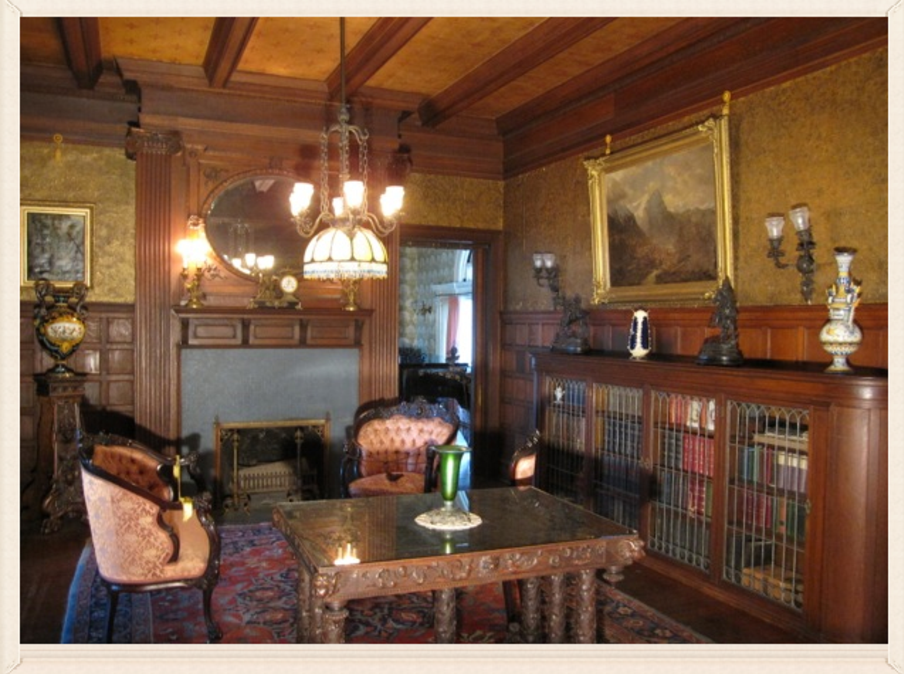 Reception Room at Rockcliffe Mansion in Hannibal Missouri
