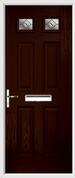 4 Panel 2 Square Composite Door fusion glass