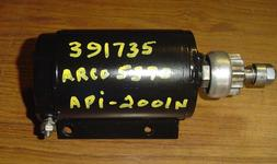 Used starter for a Johnson or Evinrude outboard motor. For a 1992 60 hp. OEM #391735, 585058, 586281 Fits 55 - 75 hp 3 cyl , 9 tooth