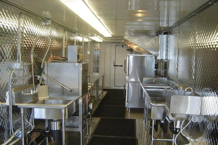 New Patriot 53' Rent this Mobile Kitchen, Inside View