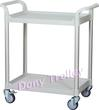 2 tier medical cart hospital trolley manufacturer Taiwan