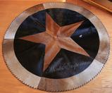 Cowhide Leather Star Rug