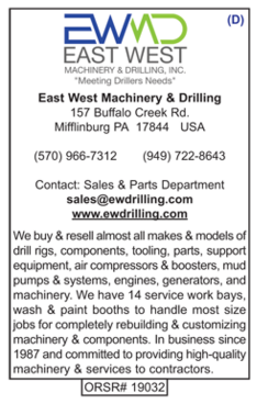 East West Machinery & Drilling, EWMD, Rigs