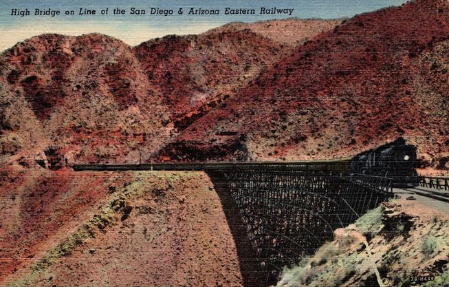 An early postcard depicting the trestle.