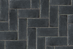 Unilock Concrete Permeable Paver Town Hall in Basalt color