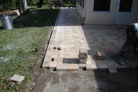 Installing Brick Paver Patio