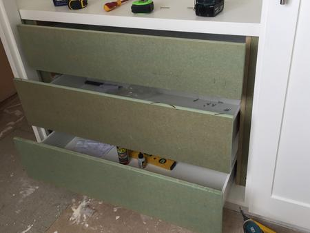 Bespoke MDF drawers