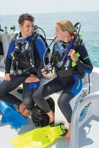 PADI Scuba diving students