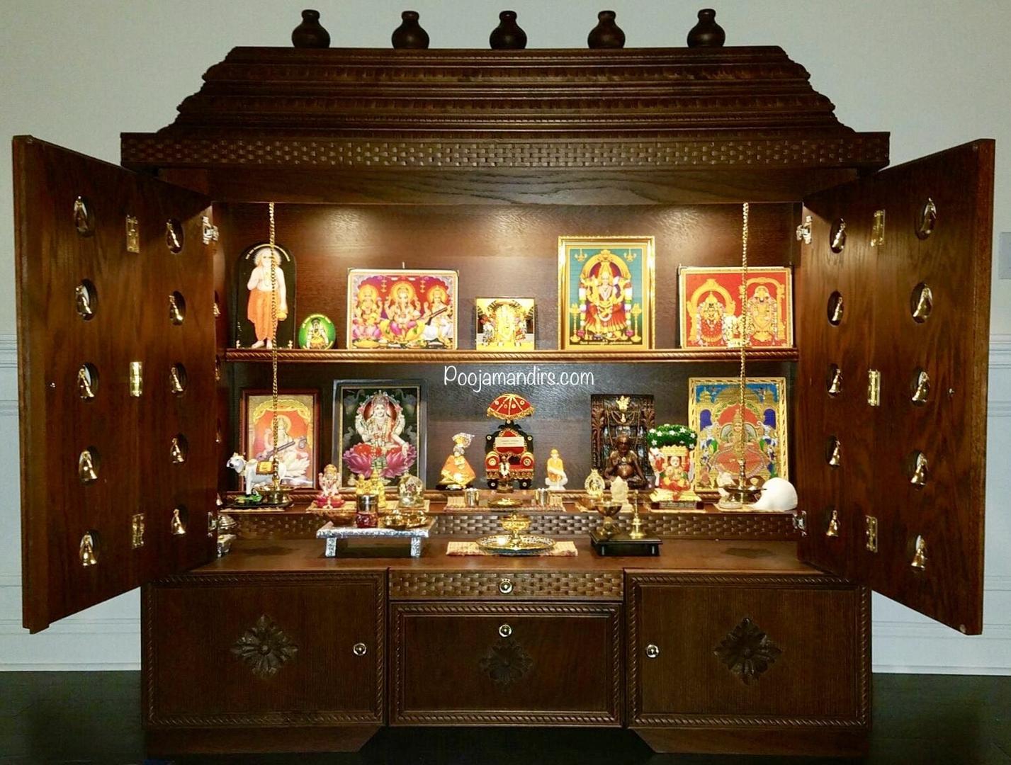 Pooja Mandirs USA - Chitra Collection - Closed Models