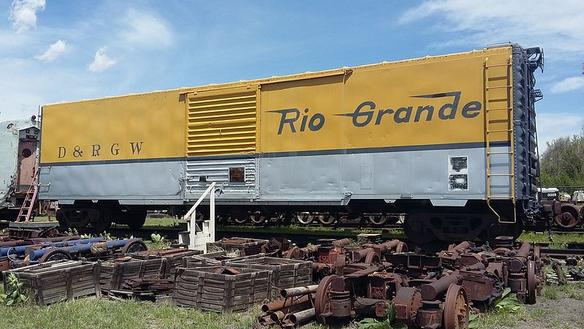 A Denver & Rio Grande Western boxcar at the Colorado Springs & Interurban Railway Museum.