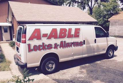A vehicle offering locksmith services for the Mchenry County, IL, area