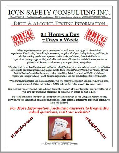Drug and Alcohol Testing Info - ICON SAFETY CONSULTING INC.