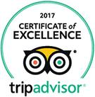 Wedgwood Inn 2017 Certificate of Excellence from Trip Advisor