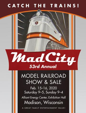 MadCity 2020 Model Railroad Show Flyer
