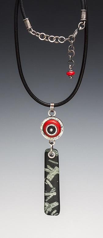 Carol Holaday - Bull's Eye Talisman necklace