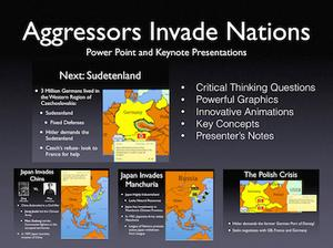 WWII: Aggressors Invade Nations History Presentation