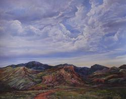 Into the Canyon, pastel by Lindy Cook Severns