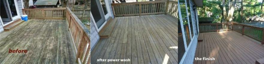 before and after image of deck restoration by Jcb Painting