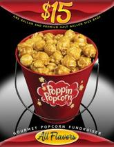 Poppin' Popcorn fundraiser Fifteen dollars all items