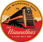 The Milwaukee Road Hiawathas. Two a day each way.