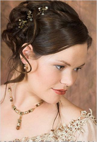Curly Side Bun Wedding Hairstyles Bridal Pictures Gallery