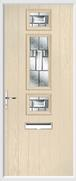 3 Square Strip Door lignum glass