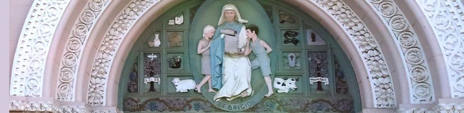 St. Brigid Relief Above Church Entrance