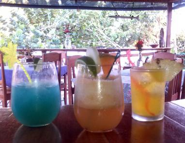 Creative cocktails include the Caribbean Breeze, Cucumber Canteloopy and a Panti-Rippa!
