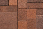 Unilock Concrete Landscape Paver Il Campo in Heritage Brown Color