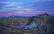 Awaiting Night Visitors, pastel landscape painting by Lindy C Severns