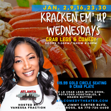 crab legs seafood comedy Atlanta comedy uptown comedy punchline comedy