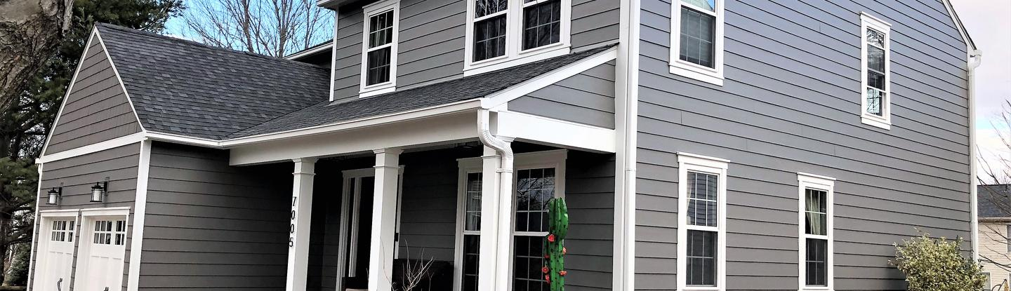 James Hardie Siding Aged Pewter Siding Contractors Columbia Md