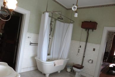 Mr. Cruikshank's original bathroom at Rockcliffe Mansion, Hannibal Missouri